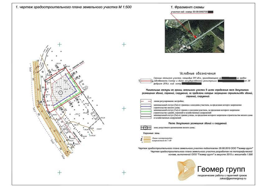 ГПЗУ градостроительный план земельного участка образец