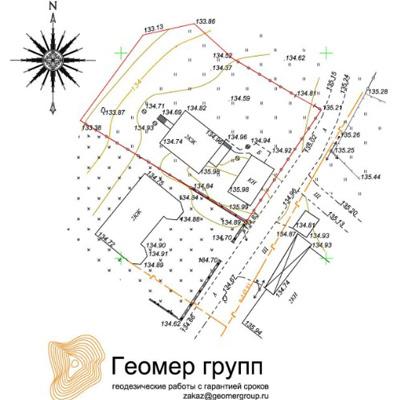 Примерная схема планировочной организации земельного участка 46